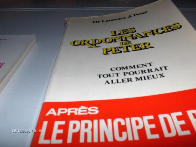 #298 LES ORDONNANCES DE PETER DR LAURENCE J.PETER