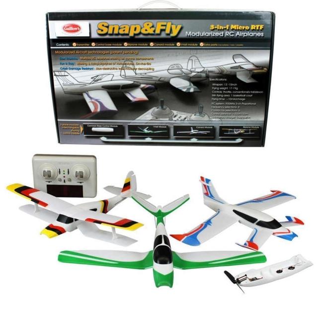 Avions téléguidé 3en1 Snap&Fly RTF